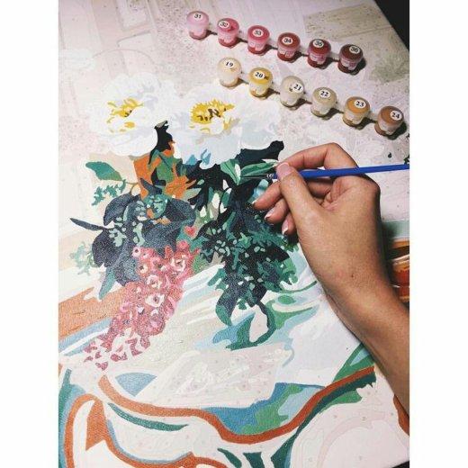Раскраска по цифрам на холсте акриловыми красками