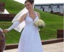 Свадебное платье и перчатки