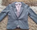 Пиджак серый в школу