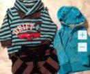 Комбенизон, кофты, пинетки на мальчика 4-7 месяц