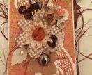 Осенняя эко-открытка