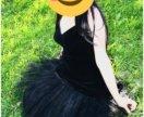Бархатное пышное платье