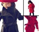 Красивое пальто на девочек 100-140 см, (в наличии)