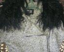 Пальто, шерсть,воротник лама,42-44р.осень -зима.