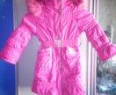 Пуховик куртка зимняя на 104-116 см