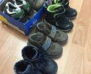 Много обуви на детей