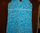 Голубое платье-туника