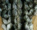 Жилет меховой чернобурка
