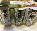 Набор бокалов, стаканы с росписью