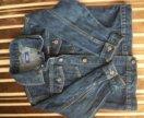 Куртка джинсовая детская 4-5 лет.