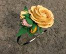 Ободки из цветочной композиции из фоамирана