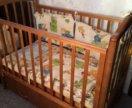 Маятниковая кровать+ матрац+бортики