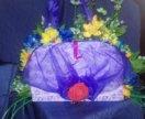 Продажа именных бокалов и сумочек из цветов