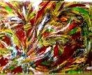 "Картина ""Танец цветов"" 80×60"