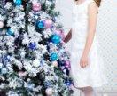 Платье на девочку нарядное белое 9 лет