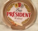 Бри с грецкими орехами Brie President