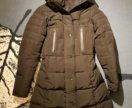 Зимнее черное пальто пуховик zara