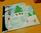 Развивающий игровой коврик новогодний