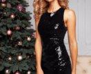 Платье  42р  трикотаж+ пайетки. НОВОЕ