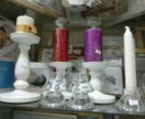 Подсвечники,свечи, разное