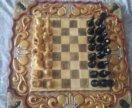 2 в 1 Шахматы + нарды с чехлом