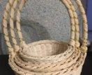 Комплект плетённых корзин