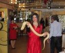 Шоу со змеёй