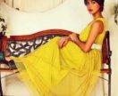 Желтое платье в пол новое