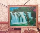 Картина водопад (живущая)
