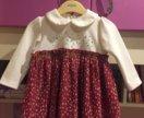 Нарядное платье на малышку, 80 см