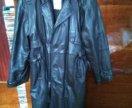 Пальто кожанное(натуральная кожа)весна,осень