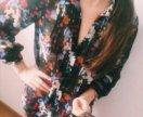 Блузка длинная полупрозрачная
