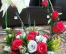 Букеты из конфет на 8 марта