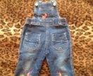 Детский джинсовый комбинезон.