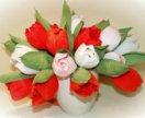 Тюльпаны из конфет к 8 марта