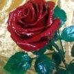 Подарочная кованная роза