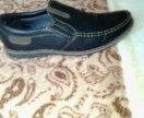 Новые ботинки из натуральной кожи.