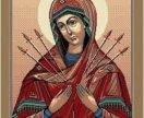 Иконы, лики святых, сувенирные коврики.