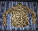 Легкая блузка леопард