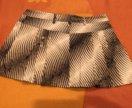мини юбка, Италия, ткань  с переливом золотым,
