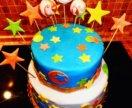 Двухэтажные торты,обычные,наборы капкейков и друго