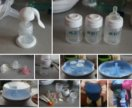 Молокоотсосник, стерилизатор, бутылочки, слинг
