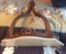 Старинная пристеновая консоль с мраморной столешн