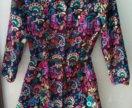 Платье штроксовое + кофта Benetton