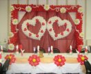 Оформление зала(свадьба,юбилей).