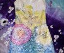 Платье желтое с паетками