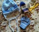 Шапка, перчатки на 2-3 года