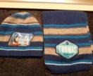 Шапка и шарф для мальчика на весну/осень