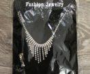 Ожерелье и серьги бижутерия