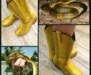 Сапожки из кожи змеи